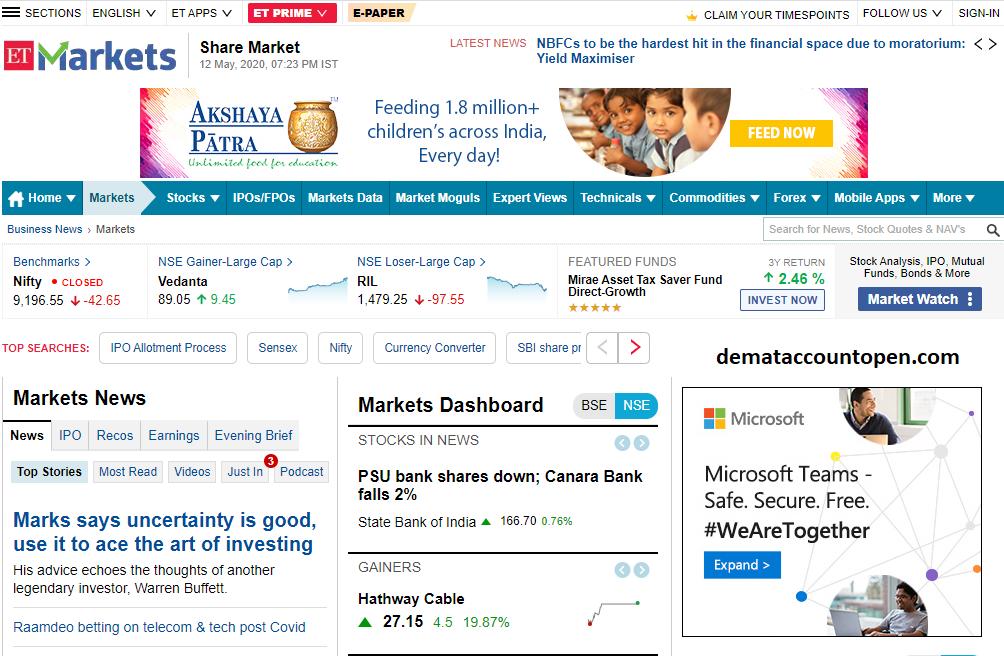 Best Stock Market Websites in India