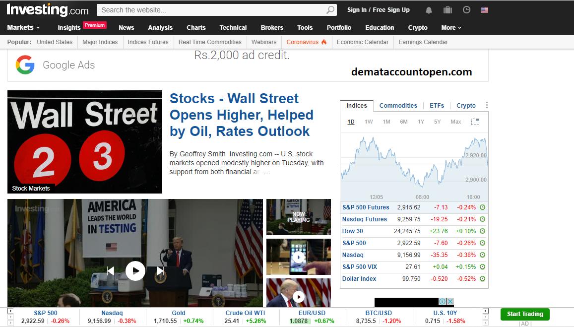 Best Stock Market Websites in India Investing.com