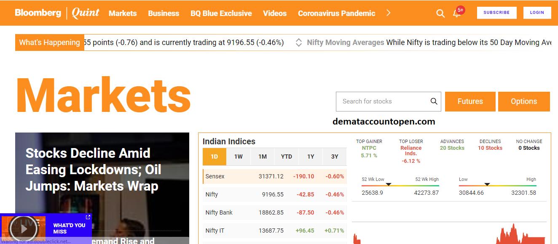 Best Stock Market Websites in India Bloomberg Quint