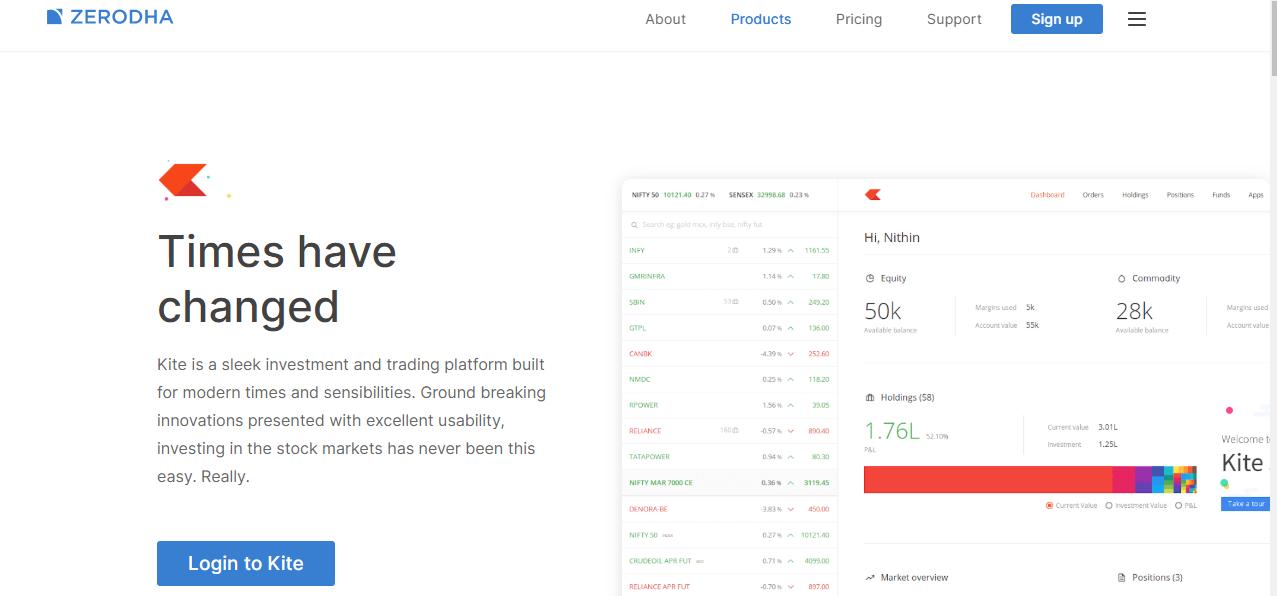 Zerodha Trading Platform - Zerodha Kite 3.0