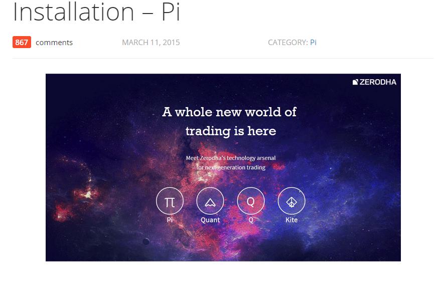 Zerodha Trading Platform - Zerodha PI