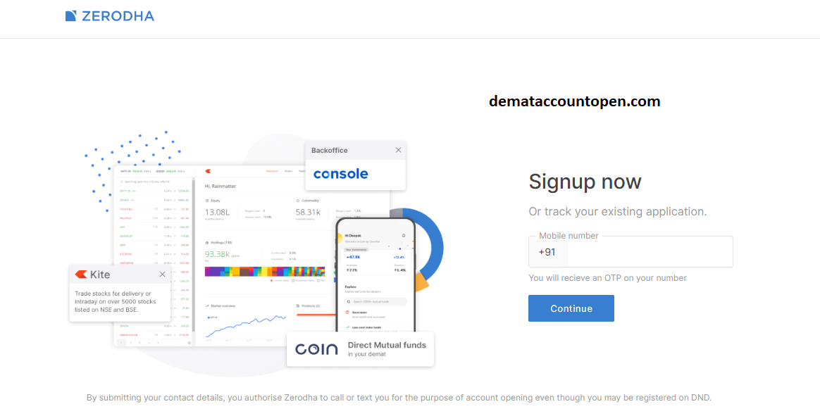 Open Zerodha Demat Account - Zerodha register