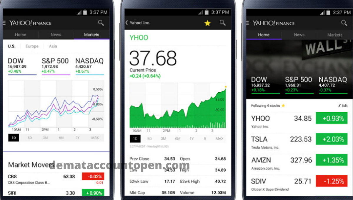 Stock Market App - Yahoo Finance App